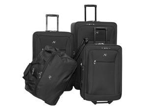 4 Pc Brooklyn Collection Luggage Set in Black