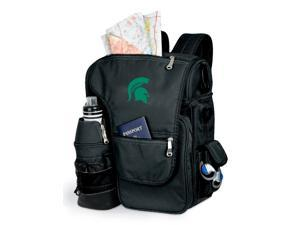 Turismo Embroidered Backpack in Black - Michigan State Spartans
