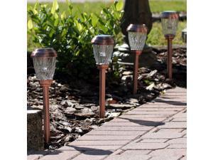 Charleston Solar Pathway Lights - Heritage Copper Finish - Set of 6