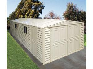 Weather Resistant Double Door Garage in DuraMax Vinyl