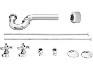Lavatory Angle Supply Kit - Includes P Trap & 2 Supply Tubes - BFNLS01CP (Chrome)