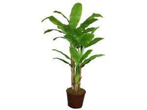 77 in. Tall Banana Tree with Real Touch Leaves in Planter