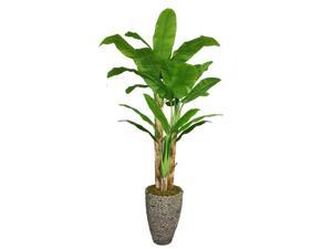 86 in. Tall Banana Tree with Real Touch Leaves-16 in. Planter