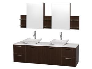 Modern Wall Mount Vanity Set with Carrera Sink