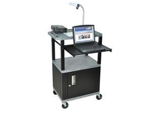 Tuffy 18 in. Presentation Cart w Front Pullout Shelf in Gray