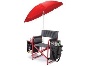 Fusion Chair - Dark Gray with Red