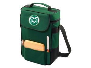 Duet Digital Print Wine and Cheese Tote in Hunter Green - Colorado State Rams