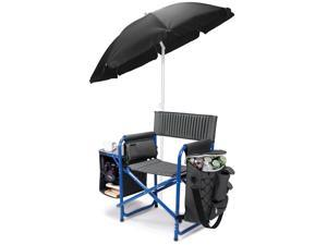 Fusion Chair - Dark Gray with Blue