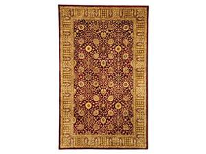 Red & Light Brown Hand-Tufted Rug (9 ft. 6 in. x 13 ft. 6 in.)