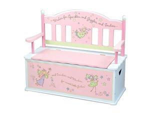 Fairy Wishes Kids Bench Seat w Interior Storage