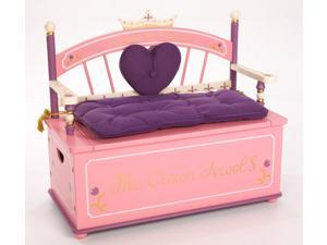 Purple Princess Toy Box w Cushioned Bench