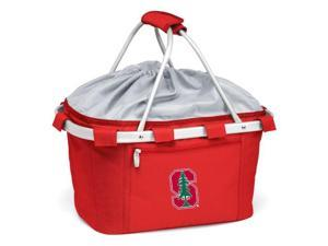 Metro Embroidered Basket in Red - Stanford University Cardinal