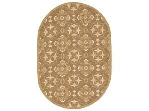 Oval Rug in Brown and Green (6 ft. 6 in. x 4 ft. 6 in.)