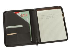 Zip Around Writing Padfolio in Black