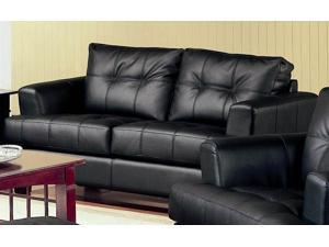 Samuel 36 in. Contemporary Loveseat (Black)