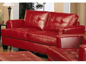 Samuel Contemporary Loveseat in Red