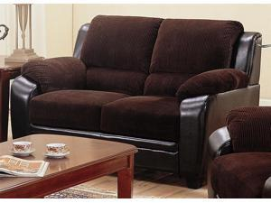 Monika Loveseat w Wood Feet