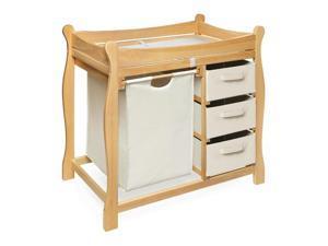 Badger Baskets Natural Sleigh Changing Table w Hamper and Basket