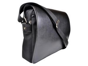 14.5 in. Messenger Bag in Black