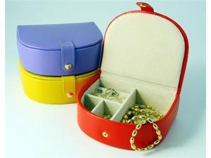 Leather Small Bow Front Jewel Box (Orange)