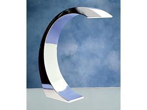 Touch-Activated Curved Lamp in Chrome Finish