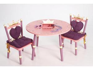 Purple w Pink Princess Children's Two Chair/Table Set