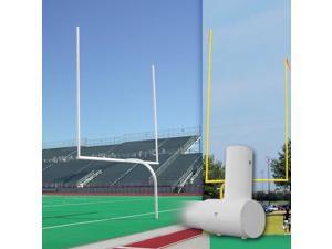 Official High School Galvanized Gooseneck Goalpost in White Finish