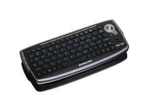 2.4GHz Wireless Compact USB Keyboard - Optical Trackball, Scroll