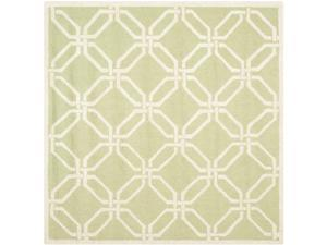 Square Rug in Lime and Ivory