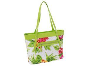Quilted Carry All Tote in Green
