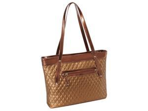 Quilted Carry All Tote in Gold