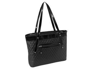 Quilted Carry All Tote in Black