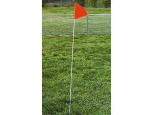 Skills Corner Marker Flag w Fiberglass Pole - 4 Pc Set