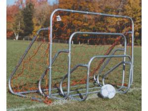 Steel Soccer Goal w Ground Bar & Net (2 ft. H x 3 ft. W)