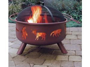 Firepit w Wildlife - Georgia Clay Finish