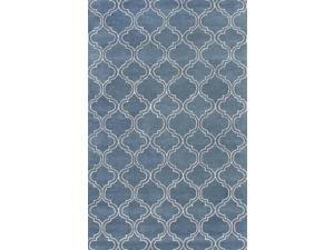 Area Rug in Aegean blue (5 ft. 6 in. L x 3 ft. 6 in. W)