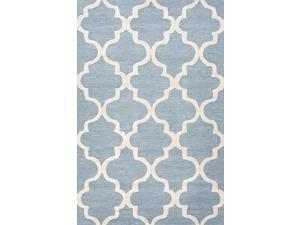 Area Rug in Aegean Blue and White (5 ft. 6 in. L x 3 ft. 6 in. W)