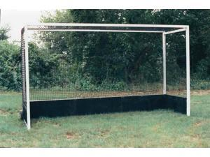 Set of 2 World Class Field Hockey Goals w Poly Boards in Black & White