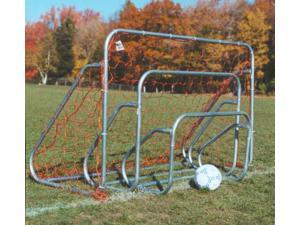 Set of 2 Small-sided Steel Soccer Goals w Ground Bar (2 ft. x 3 ft.)