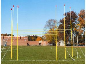 Portable Football Powerpost in Yellow (High School Football Powerpost)