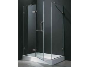 48 in. Frameless Rectangular Shower Enclosure w Base (Left Door)
