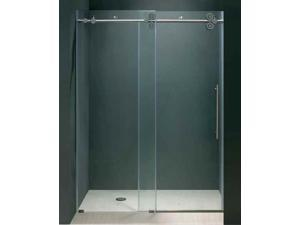 72 in. Frameless Clear Glass Shower Door w Chrome Hardware