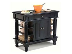 Home Styles Americana Black Kitchen Island - 5092-94