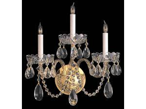 Crystorama Traditional Swarovski Elements Crystal Wall Sconce - 1103-PB-CL-S