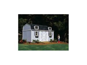 Premier Gambrel Berkley Stand Tall Storage Shed w Lever Lock (10 ft.  x 16 ft.)