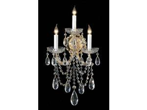 Crystorama Maria Theresa Wall Sconce, Swarovski Spectra Crystal - 4423-GD-CL-SAQ