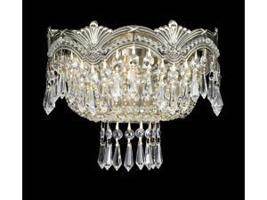 Crystorama Majestic Sold Cast Brass Ornate Crystal Wall Sconce 1480-HB-CL-SAQ