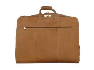 Leather Garment Bag w Wally Clamp in Saddle