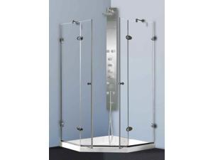 Shower Enclosure with Low-Profile Base (47.63 in. W x 47.63 in. D x 76.75 in. H)