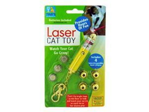 Laser Light Key Chain Toy For Cats - Set of 20